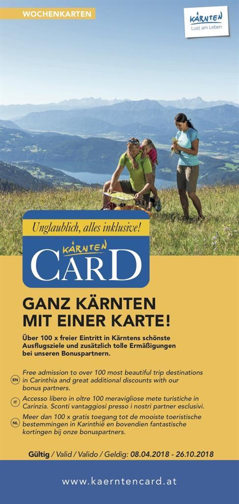 Kärnten Card Information(© Kärnten Card)