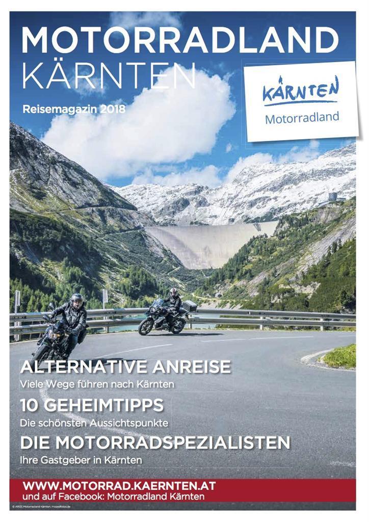 Motorradland Kärnten Reisemagazin(© ARGE Motorradland Kärnten)