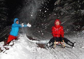 Night Tobogganing and Night Skiing