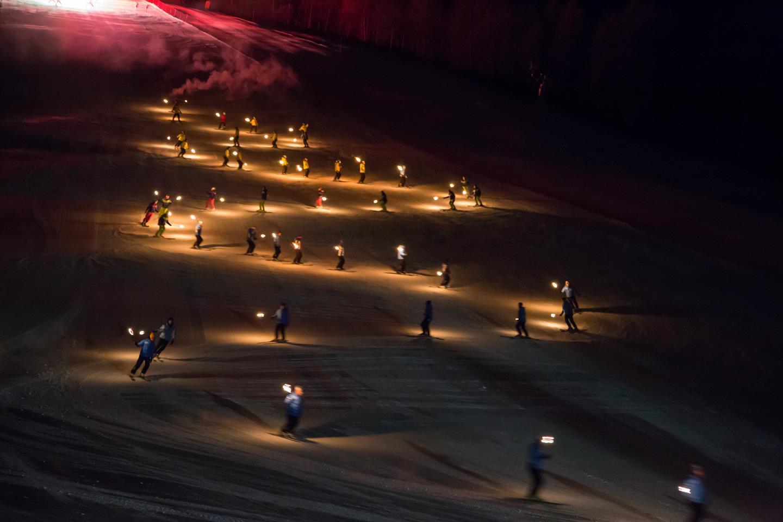 Carnival Torchlight Ski Processions