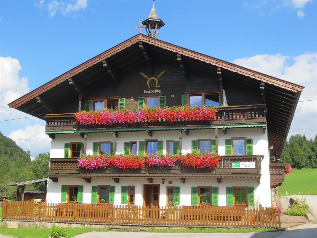 Bauernhof Großwolfing & Apartmenthaus Fischbacher Kaisersuite im App. Haus